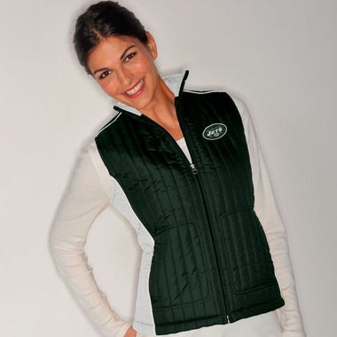 New York Jets Women's NFL Rally Full Zip Quilted Vest Jacket