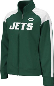 New York Jets Women's Reebok Bonded Full Zip Track Jacket - Small