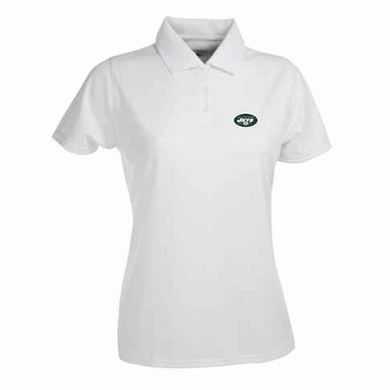New York Jets Womens Exceed Polo (Color: White)