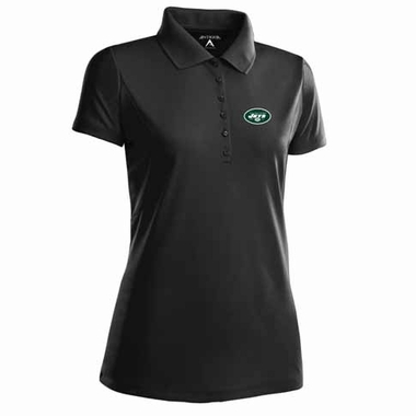 New York Jets Womens Pique Xtra Lite Polo Shirt (Team Color: Black)