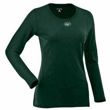 New York Jets Womens Relax Long Sleeve Tee (Team Color: Green)