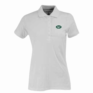 New York Jets Womens Spark Polo (Color: White)