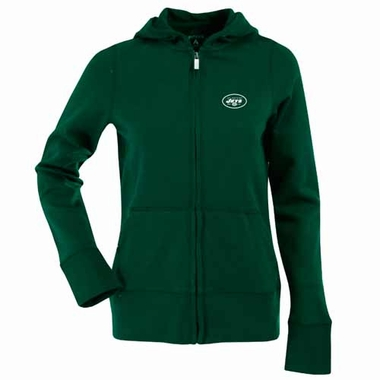 New York Jets Womens Zip Front Hoody Sweatshirt (Team Color: Green)