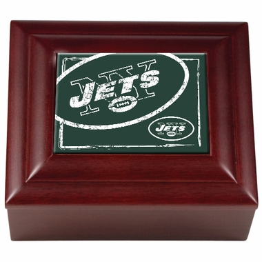 New York Jets Wooden Keepsake Box