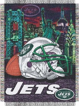 New York Jets Woven Tapestry Blanket