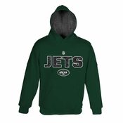 New York Jets Youth Midweight Full Zip Hooded Jacket - Green