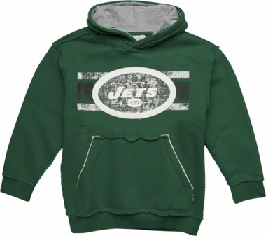New York Jets YOUTH Vintage Striped Hooded Sweatshirt