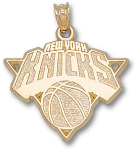 New York Knicks 10K Gold Pendant