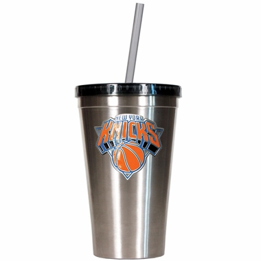 New York Knicks 16oz Stainless Steel Insulated Tumbler with Straw