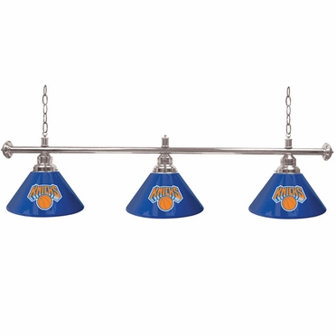 New York Knicks 3 Shade Billiard Lamp