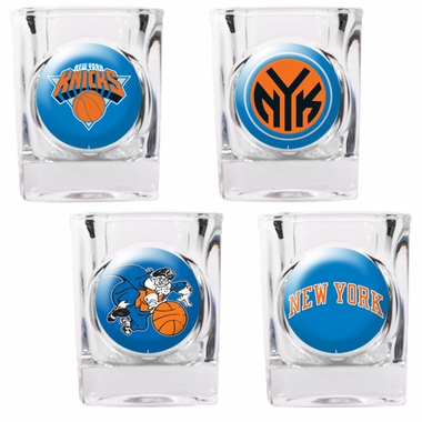 New York Knicks 4 Piece Assorted Shot Glass Set