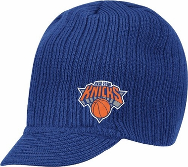 New York Knicks Adidas NBA Blue Visor Knit Hat