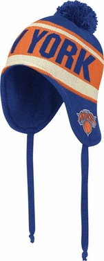 New York Knicks Adidas Originals NBA Peruvian Knit Hat w/ Tassels