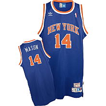 New York Knicks Anthony Mason Team Color Throwback Replica Premiere Jersey