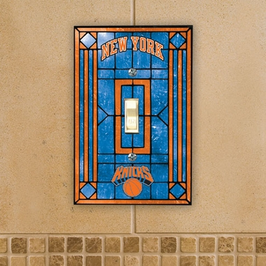 New York Knicks Art Glass Lightswitch Cover