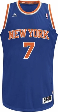 New York Knicks Carmelo Anthony Adidas NBA Revolution 30 Swingman Jersey - Blue