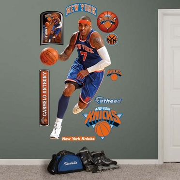 New York Knicks Carmelo Anthony Fathead Wall Graphic