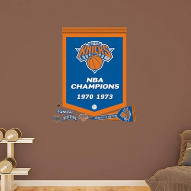 New York Knicks Championship Banner Fathead Wall Graphic