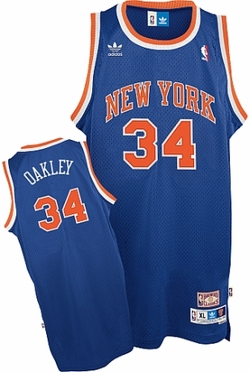 New York Knicks Charles Oakley Adidas Team Color Throwback Replica Premiere Jersey