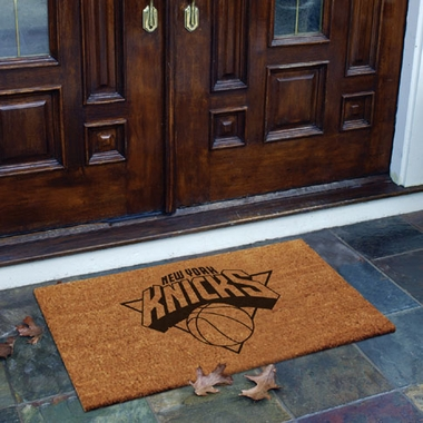 New York Knicks Flocked Coir Doormat