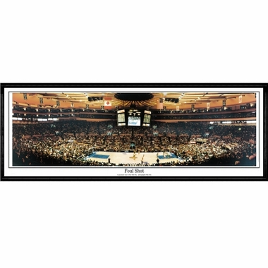 New York Knicks Foul Shot Framed Panoramic Print