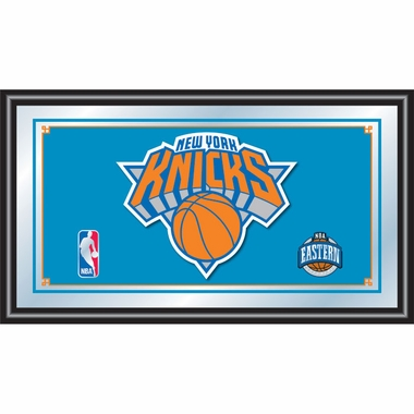 New York Knicks Framed Logo Bar Mirror