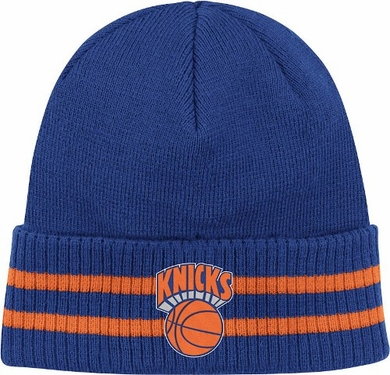 New York Knicks Mitchell & Ness NBA Vintage Stockey Stripe Cuffed Knit Hat