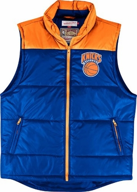 New York Knicks Mitchell & Ness NBA Winning Team Throwback Snap Vest Jacket