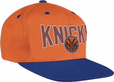 New York Knicks Name and Logo Snap Back Hat