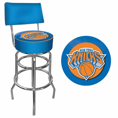 New York Knicks Padded Bar Stool with Back