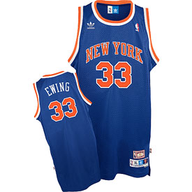 New York Knicks Patrick Ewing Adidas Team Color Throwback Replica Premiere Jersey - Large