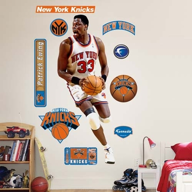 New York Knicks Patrick Ewing Fathead Wall Graphic