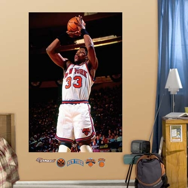 New York Knicks Patrick Ewing Mural Fathead Wall Graphic