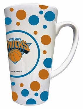 New York Knicks Polkadot 16 oz. Ceramic Latte Mug