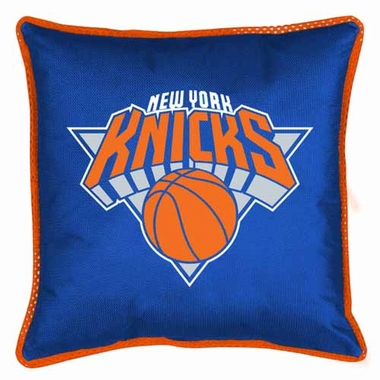 New York Knicks SIDELINES Jersey Material Toss Pillow