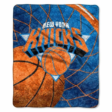 New York Knicks Super-Soft Sherpa Blanket