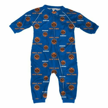 New York Knicks Toddler Raglan Zip Up Sleeper