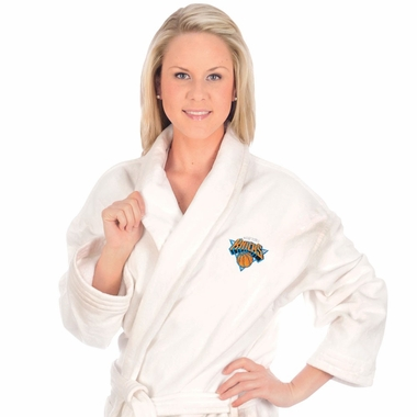 New York Knicks UNISEX Bath Robe (White)
