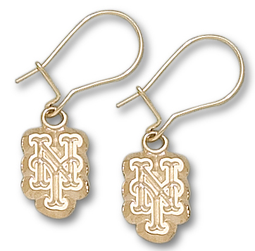 New York Mets 10K Gold Post or Dangle Earrings