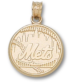New York Mets 14K Gold Pendant