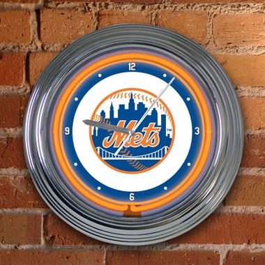 New York Mets 15 Inch Neon Clock