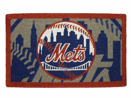 New York Mets 18x30 Bleached Welcome Mat