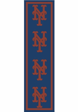 "New York Mets 2'1"" x 7'8"" Premium Runner Rug"