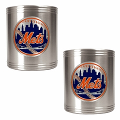 New York Mets 2 Can Holder Set