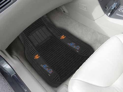 New York Mets 2 Piece Heavy Duty DELUXE Vinyl Car Mats