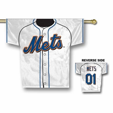 New York Mets 2 Sided Jersey Banner Flag (F)