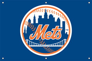 New York Mets 2 x 3 Horizontal Applique Fan Banner