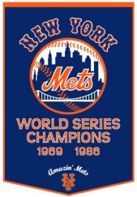 "New York Mets 24""x36"" Dynasty Wool Banner"