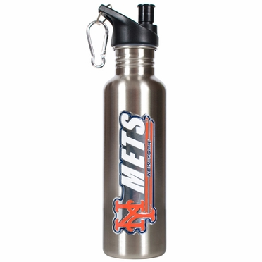 New York Mets 26oz Stainless Steel Water Bottle (Silver)