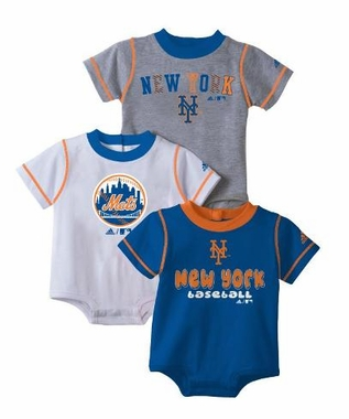 New York Mets 3 Pack Creeper Set